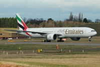 A6-EBF @ EGBB - Emirates B777 at Birmingham UK - by Terry Fletcher