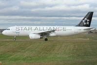 G-MIDS @ EGBB - BMI's 2001 Airbus A320-232, c/n: 1424 in Star Alliance colours at Birmingham