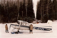 C-GYZX - Slate Falls' Cessna 180 on Lac Seul, 1987, providing transport for my survey crew working on retracing the boundaries of Lac Seul First Nation - by Stephen B. Nicholson