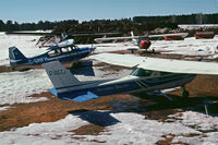 C-GEZJ @ CYXL - Tied up at Sioux Lookout Flying Club's space at Sioux Lookout Airport, 1978 - by Stephen B. Nicholson