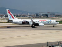 EC-JNF @ LEBL - Taxi to the runway of Barcelona Airport - by Willem Goebel