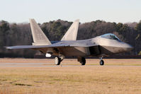 08-4153 @ LFI - USAF Lockheed Martin F-22A Block 35 Raptor 08-4153 with the 27th FS at Langley AFB, Virginia taxiing after returning from a mission. - by Dean Heald