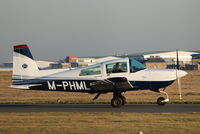 M-PHML @ EGNH - Photographed taxiing out for departure from Blackpool Airport, Lancashire back to the Isle of Man on Saturday 14th january 2012 - by Andrew Ratcliffe