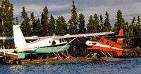 C-FOEE - sister turbo beavers c-foef and c-foee at Hatchet Lake dock in northern Sask. - by Darrel Giesbrecht (Luke)