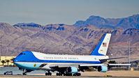 82-8000 @ KLAS - 82-8000 U.S.A.F. 1988 Boeing VC-25A C/N 23824 President Obama - Las Vegas , Nevada  - Las Vegas - McCarran International (LAS / KLAS) USA - Nevada, January 26, 2012 Photo: Tomás Del Coro - by Tomás Del Coro