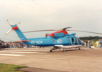 PH-NZW @ EHGR - KLM Helikopters , Dutch AF Openday at Gilze Rijen AFB - by Henk Geerlings