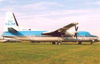 PH-KVC @ EGSU - KLM Cityhopper , charter to Duxford , Flying Legend Airshow - by Henk Geerlings
