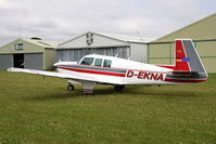 D-EKNA @ X5FB - Mooney M20F Executive, a new resident at Fishburn Airfield, July 2011. - by Malcolm Clarke
