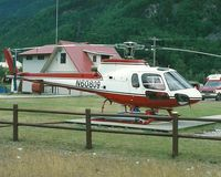 N60809 @ PRIV - Eurocopter Squirrel photographed at a private helipad at Skagway by Edwin van Opstal, displayed with permission. Scanned from a color print.