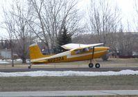 N2932A @ KRXE - Cessna 180 Skywagon at Rexburg-Madison County airport, Rexburg ID