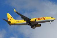 D-ATUL @ GCTS - TUI Fly's 2011 Boeing 737-8K5, c/n: 38820