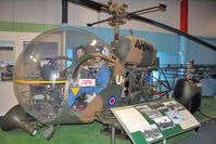 XT108 - Westland Sioux AH1, c/n: 1571 at Army Flying Museum at Middle Wallop