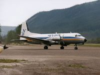 C-FYDU @ YDA - Photograph by Edwin van Opstal with permission. Scanned from a color print. Taken at Dawson City, Yukon, Canada.