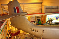 TG263 - Tail of Saunders Roe SR.A.1, c/n: G-12-1 preserved at Solent Sky Museum , Southampton