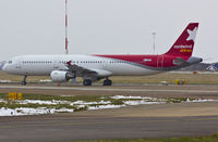 M-ABEE @ EGSH - Sat on stand 8 after spray into Nordwind Airlines livery. - by Matt Varley
