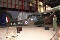 WZ721 - Auster AOP9, c/n: B5/10/45 at Army Flying Museum at Middle Wallop