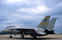160906 @ KNTU - A/C an F-14A Tomcat displaying the markings of Fighting Squadron 32 (VF-32, The Swordsmen) photographed on the VF-32 flight line, NAS Oceana, VA. - by Thomas P. McManus