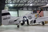 N2869D @ KRXE - North American P-51D Mustang at the Legacy Flight Museum, Rexburg ID