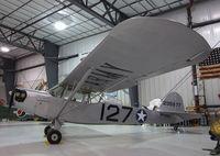 N48291 @ KRXE - Taylorcraft DCO-65 (L-2) at the Legacy Flight Museum, Rexburg ID