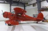 N217SD @ KRXE - Beechcraft D17S Staggerwing at the Legacy Flight Museum, Rexburg ID