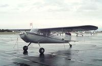 N1910V @ KEUL - Cessna 140 at Caldwell Industrial airport, Caldwell ID