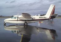 N981RA @ KEUL - Aero Commander 680 at Caldwell Industrial airport, Caldwell ID