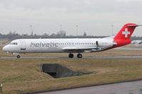 HB-JVC @ EGBB - Helvetic's 1994 Fokker 100 (F-28-0100), c/n: 11501