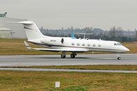 N59AP @ EGBB - 2008 Gulfstream Aerospace GIV-X (G450), c/n: 4127 departing Birmingham (UK)