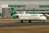 EZ-A107 @ EGBB - Turkmenistan Airlines 2005 Boeing 717-22K, c/n: 55187 on ferry back to the USA .  Arrived at Birmingham from Kiev and departed to Keflavik