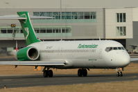 EZ-A107 @ EGBB - Turkmenistan Airlines 2005 Boeing 717-22K, c/n: 55187 being ferried back to USA