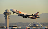 N577FE @ KLAX - Departing LAX on 25R