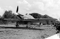 BAPC073 - Replica Hawker Hurricane built for 1969 Battle of Britain film. Photographed close to Queens Head pub in Allens Green, Herts in 1971. - by Penny Mayes