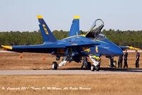 163765 @ KNPA - Blue Angel #6  pre/fli prior to flight demo at NAS Pensacola, FL. - by Thomas P. McManus
