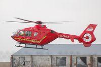G-DAAT @ EGFH - Devon Air Ambulance departing Swansea Airport. - by Roger Winser