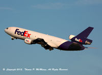 N383FE @ KPHL - FedEX 445 Heavy climbing out frm 27L on an early morning departure from PHL.
