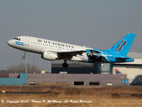 N717UW @ KPHL - 'Cactus 1061 displaying Carolina Panthers livery rotating on 27L departing PHL.