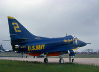 154975 @ KNXX - Displaying Blue Angel #2, photographed while on display at NAS Willow Grove,PA.,  08 September 1979.  (35mm, Ektachrome 64)