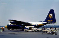 149806 @ RDG - KC-130F Hercules support aircraft for the Blue Angels Flight Demonstration Team as seen at the 1976 Reading Airshow. - by Peter Nicholson