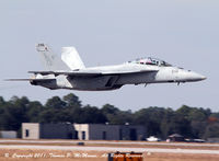 165894 @ KNPA - Low pass during a flight demo at NAS Pensacola, FL, VFA-106, F/A-18F Super Hornet. - by Thomas P. McManus