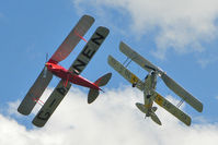 G-ANEN @ X3BX - Tiger Moths re-enacting The Flying Circus at Baxterley 2011 Wings & Wheels