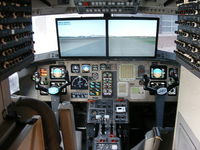 G-JMAC @ EGGP - Jetstream cockpit converted to a flight simulator which I flew from Liverpool to Manchester - by Chris Hall