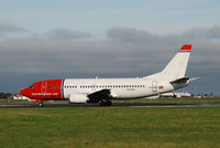 LN-KKD @ EIDW - Departing off Rwy28 operating NAX 1363 - by Noel Kearney