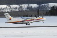 C-FIQU @ CYXY - Taking off on sched flight to Yellowknife. - by Murray Lundberg