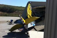 N41017 @ L18 - A private pilot from Oceanside remained in critical condition Monday following a weekend crash that wrecked his light plane at Fallbrook Airpark, authorities reported. James Stowe, 45, had just taken off in his 1969 Bowers Fly Baby 1-A when it went down. - by Rev. E.D. Shuke