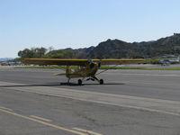 N23266 @ SZP - 1939 Piper J3C-65 CUB, Continental A&C65 65 Hp, taxi to Rwy 04 - by Doug Robertson