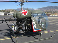 N8503F @ SZP - 1965 Bell 47G-4, Lycoming VO-540 305 Hp, fake bullet holes - by Doug Robertson