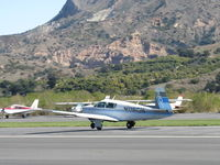 N1160N @ SZP - 1982 Mooney M20J 201, Lycoming O&VO-360 200 Hp, takeoff roll Rwy 04 - by Doug Robertson