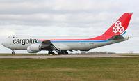 LX-VCB @ EGNX - Cargolux 2010 Boeing 747-8R7F, c/n: 35806 departs from East Midlands
