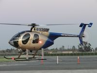 N108PP @ POC - Showing me the new LED running lights on the port side - by Helicopterfriend