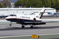 N10YJ @ SMO - Jones International Aviation LLC 1988 BAe 125-800A N10YJ landing RWY 21. - by Dean Heald
